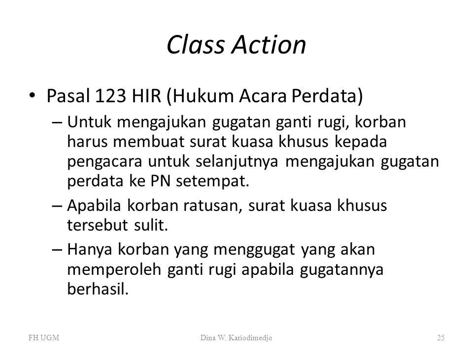 Class Action Pasal 123 HIR (Hukum Acara Perdata)