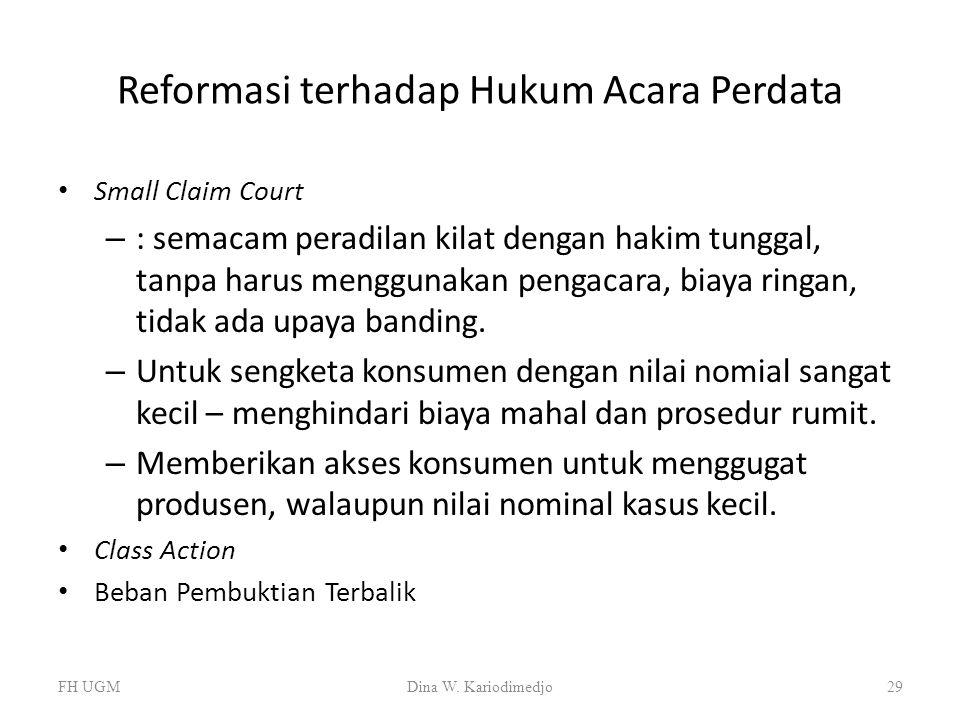 Reformasi terhadap Hukum Acara Perdata