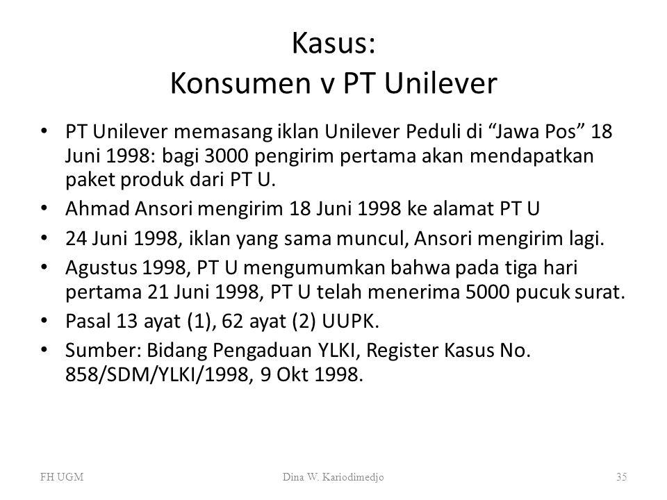 Kasus: Konsumen v PT Unilever