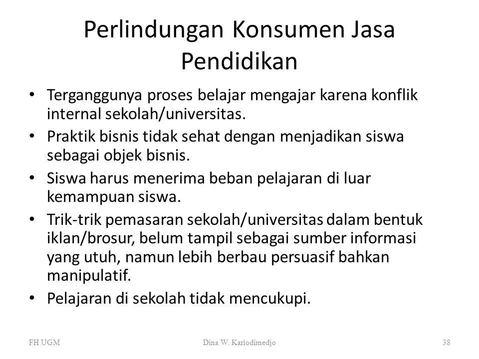 Perlindungan Konsumen Jasa Pendidikan