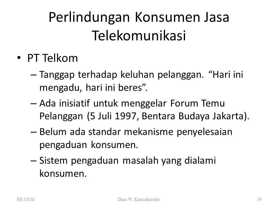 Perlindungan Konsumen Jasa Telekomunikasi