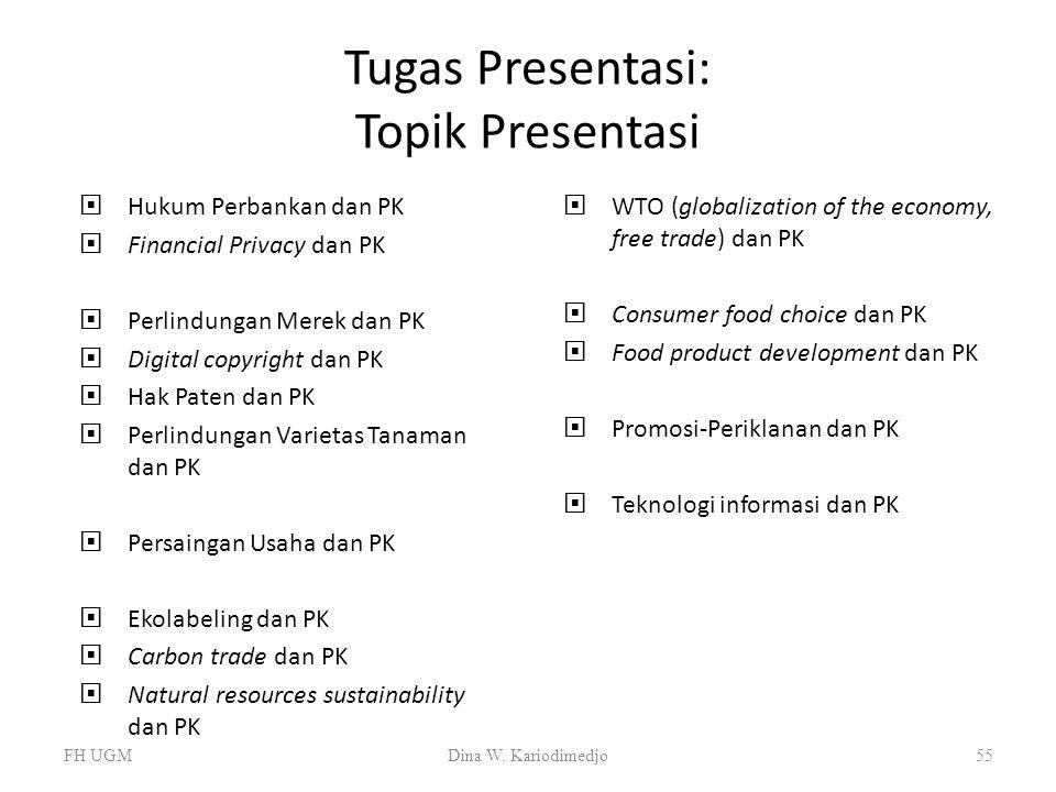 Tugas Presentasi: Topik Presentasi