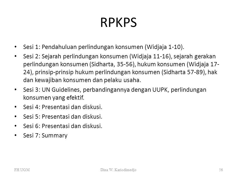 RPKPS Sesi 1: Pendahuluan perlindungan konsumen (Widjaja 1-10).