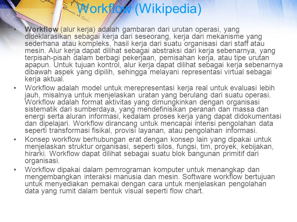 Workflow (Wikipedia)