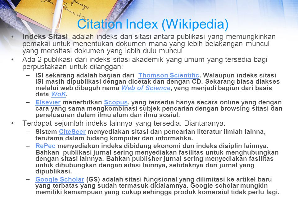 Citation Index (Wikipedia)