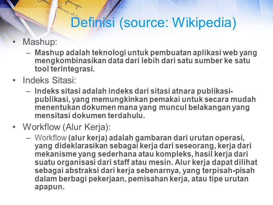Definisi (source: Wikipedia)