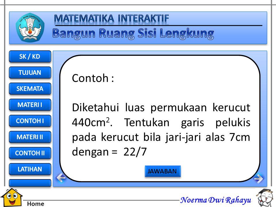 SK / KD TUJUAN. SKEMATA. MATERI I. CONTOH I. MATERI II. CONTOH II. LATIHAN. Contoh :