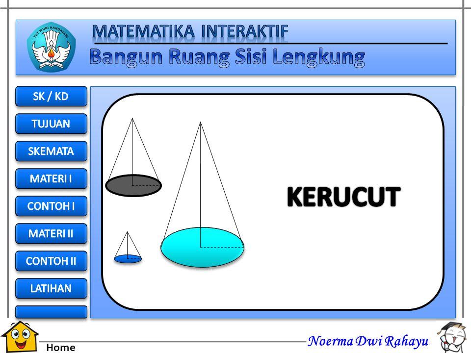 KERUCUT SK / KD TUJUAN SKEMATA MATERI I CONTOH I MATERI II CONTOH II