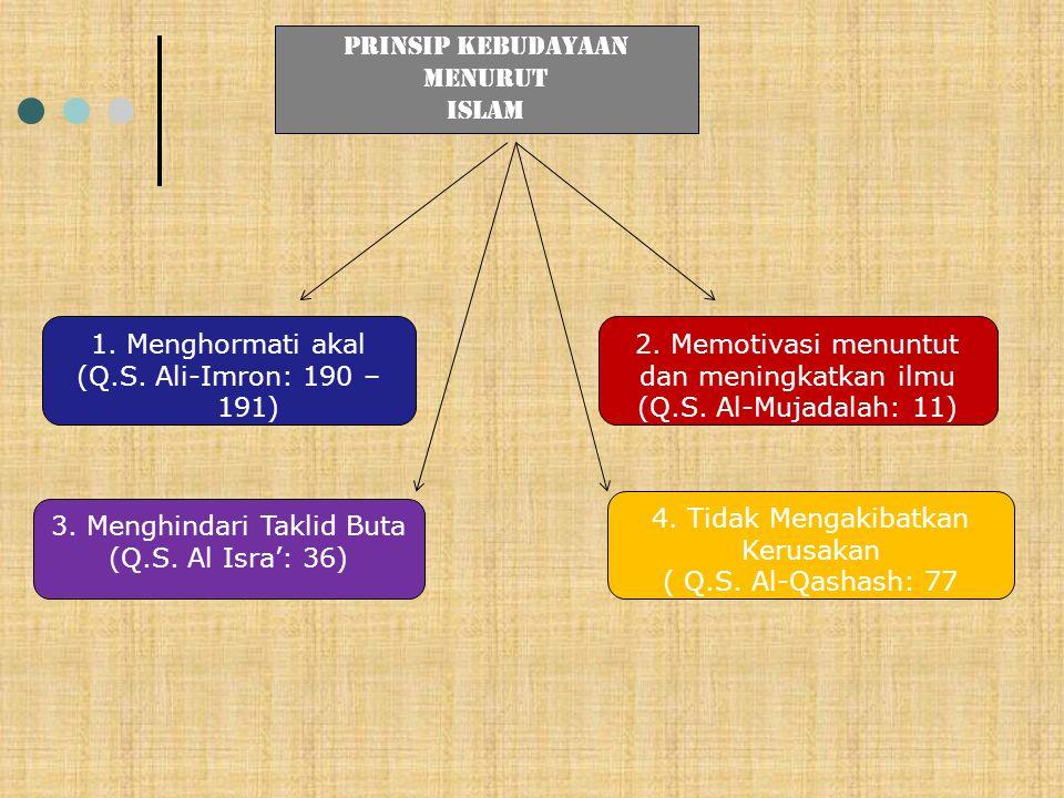 2. Memotivasi menuntut dan meningkatkan ilmu (Q.S. Al-Mujadalah: 11)