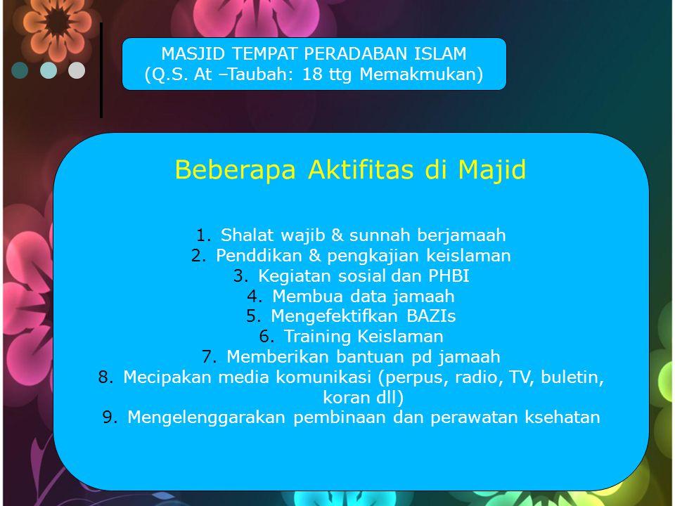Beberapa Aktifitas di Majid