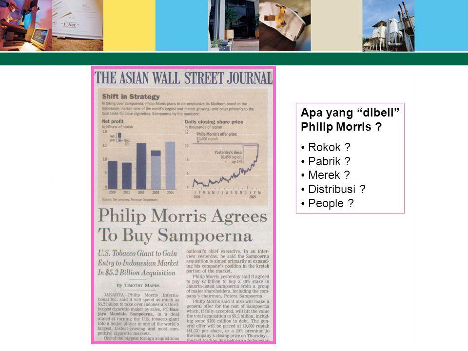Apa yang dibeli Philip Morris Rokok Pabrik Merek Distribusi People