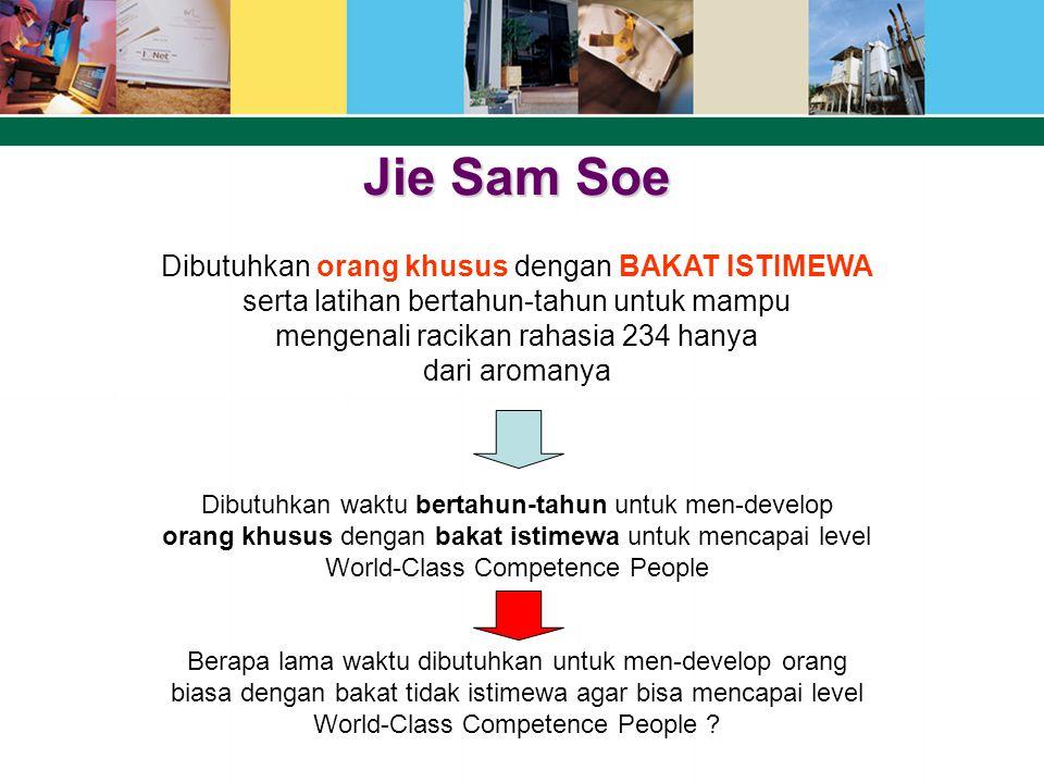 Jie Sam Soe Dibutuhkan orang khusus dengan BAKAT ISTIMEWA