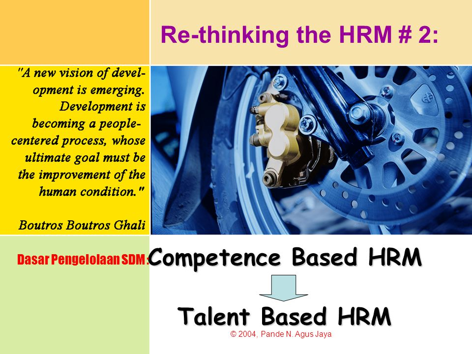 Competence Based HRM Talent Based HRM