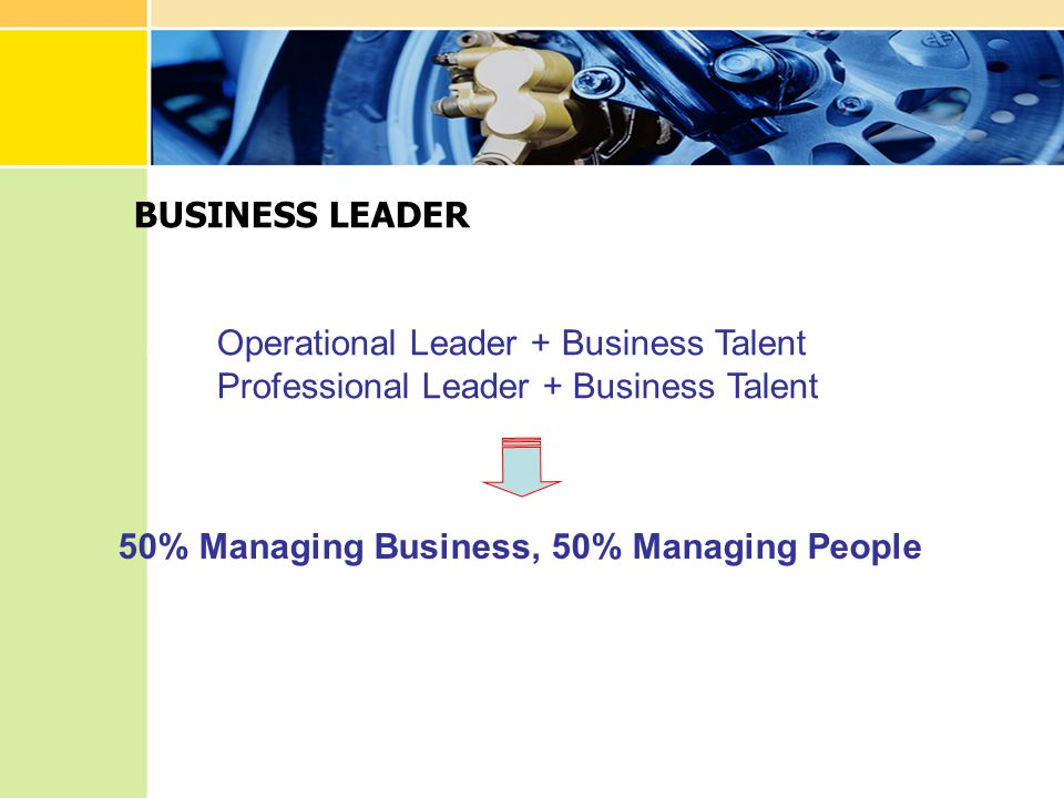 BUSINESS LEADER Operational Leader + Business Talent.
