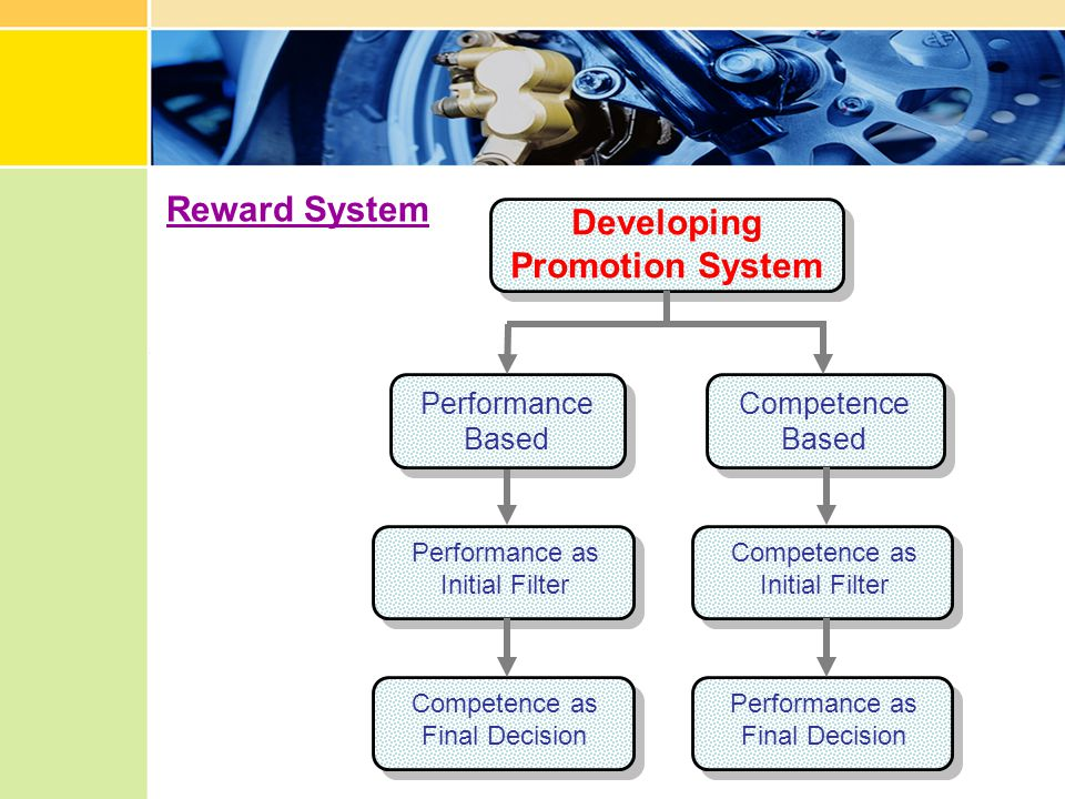 Reward System Developing Promotion System