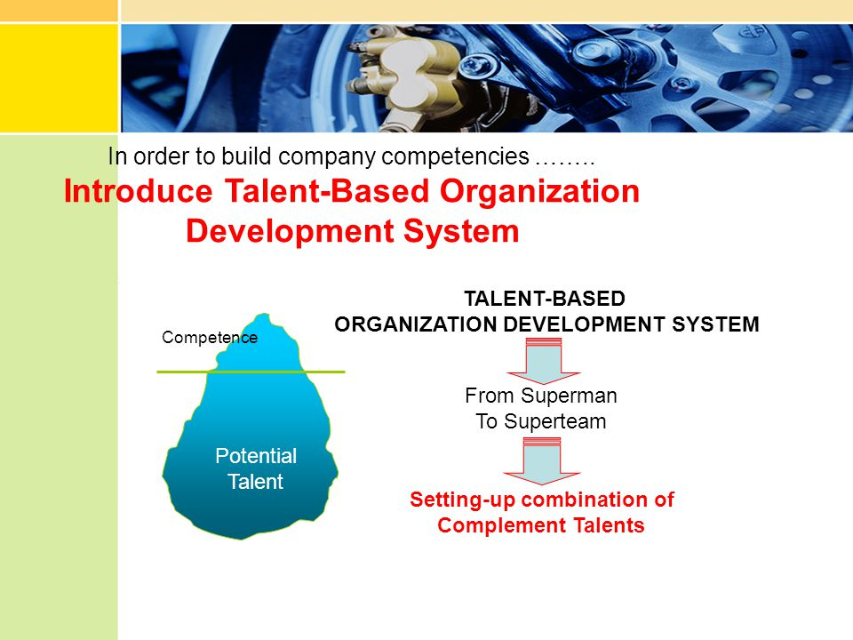 Introduce Talent-Based Organization Development System