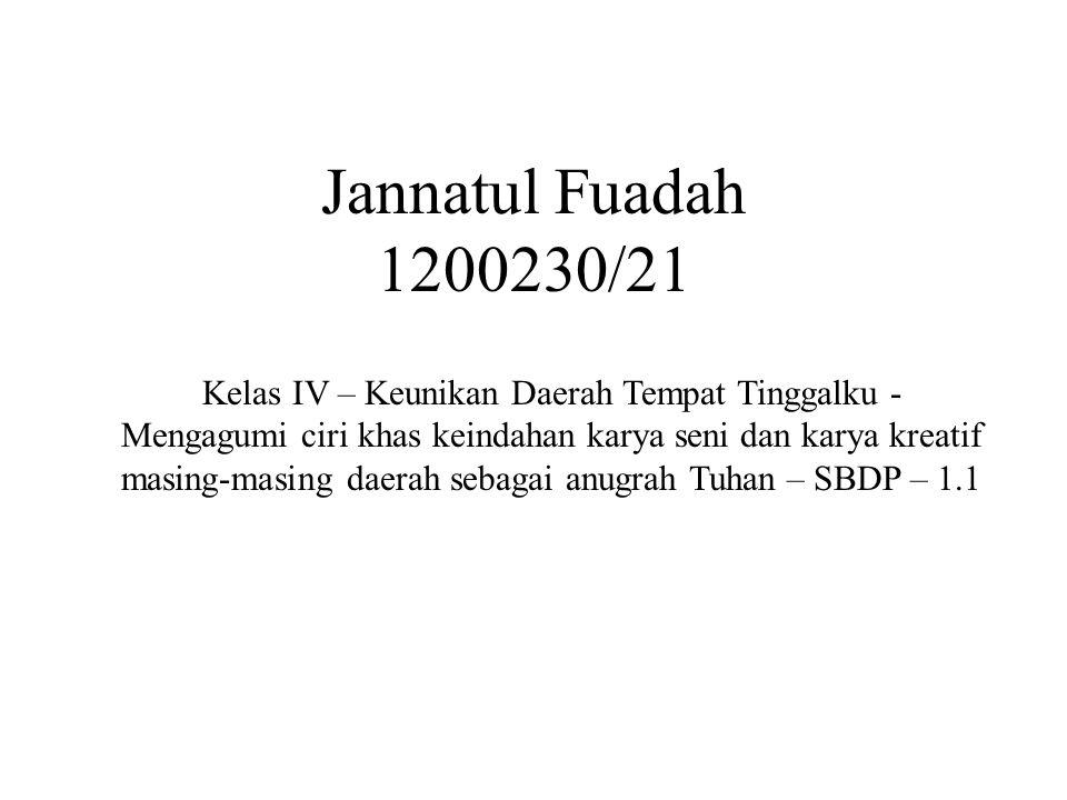 Jannatul Fuadah 1200230/21