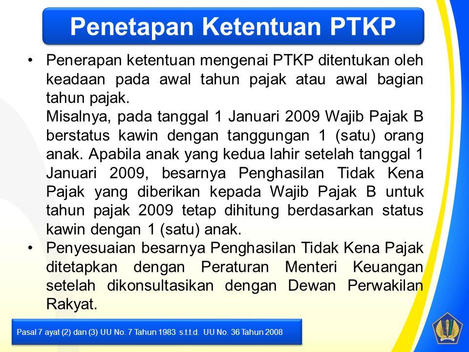 Penetapan Ketentuan PTKP