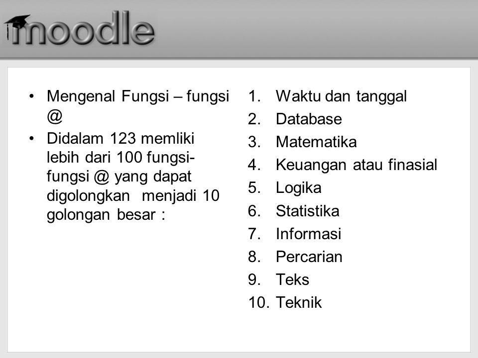 Mengenal Fungsi – fungsi @