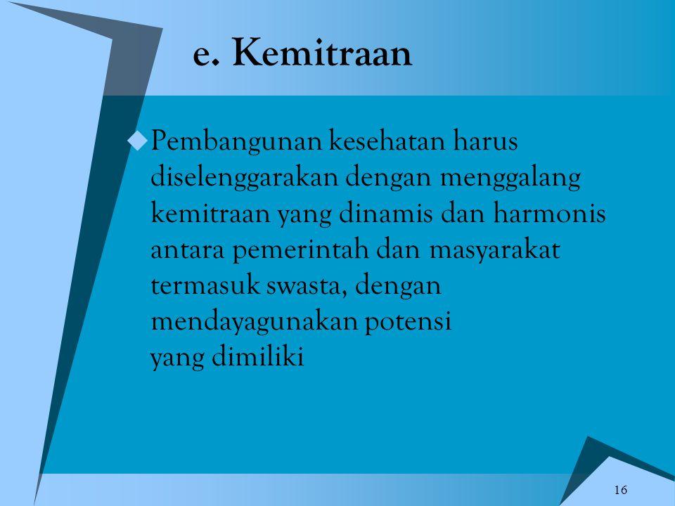 e. Kemitraan