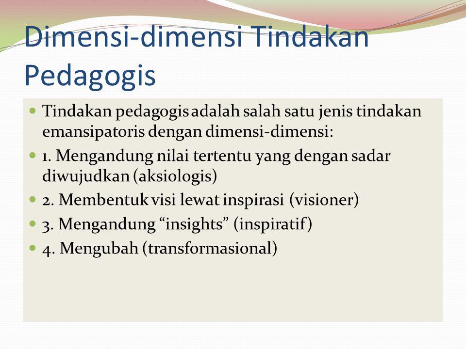 Dimensi-dimensi Tindakan Pedagogis