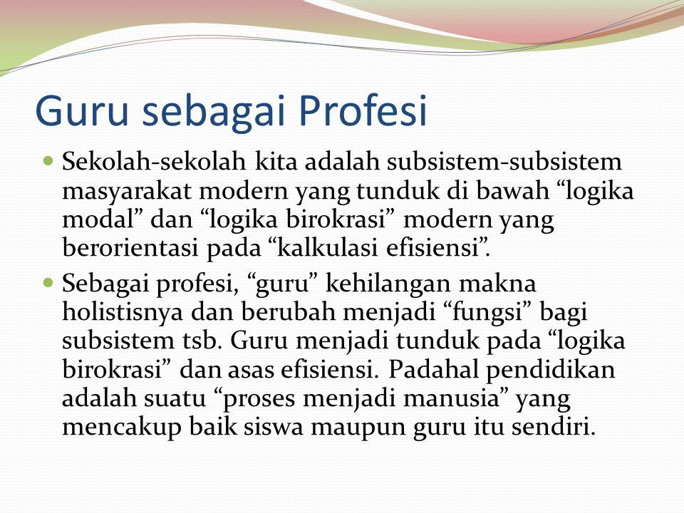 Guru sebagai Profesi