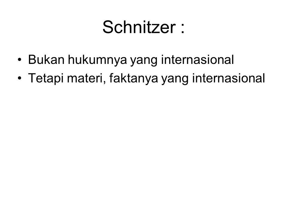 Schnitzer : Bukan hukumnya yang internasional