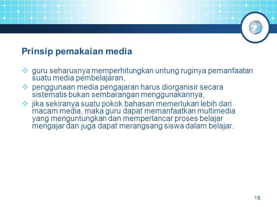Prinsip pemakaian media