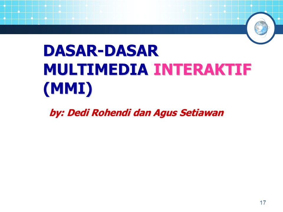 MULTIMEDIA INTERAKTIF (MMI)