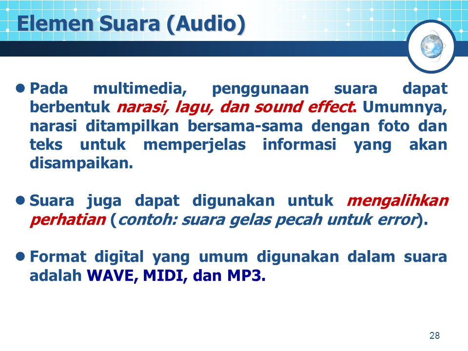 Elemen Suara (Audio)
