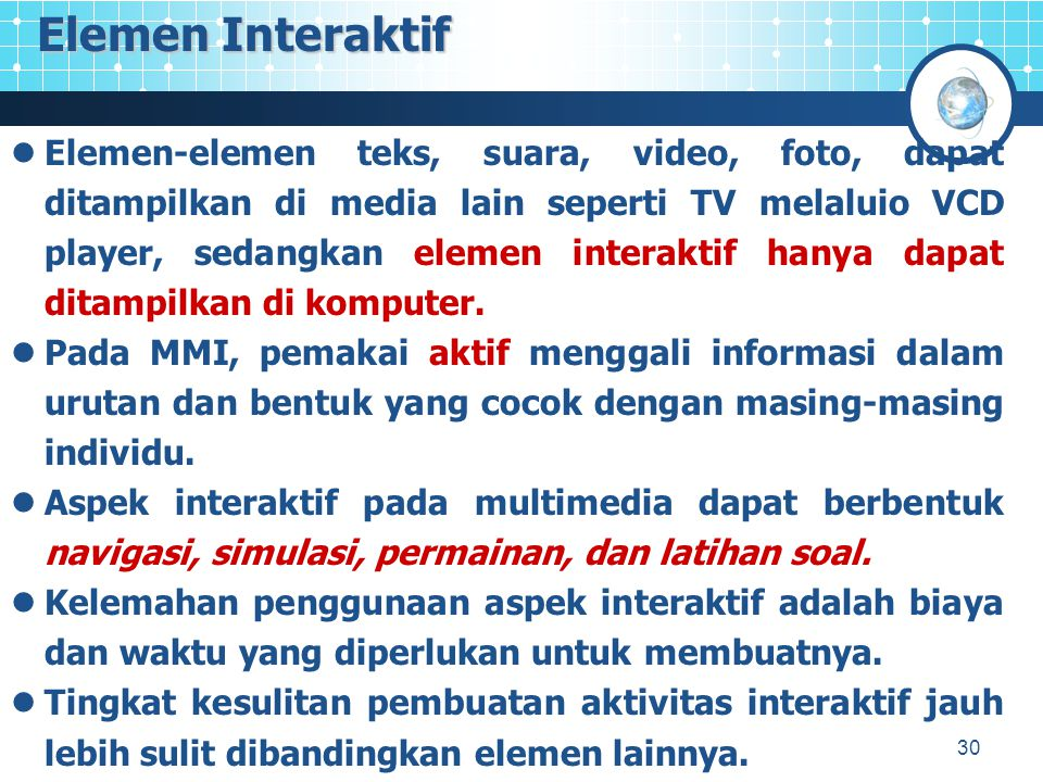 Elemen Interaktif