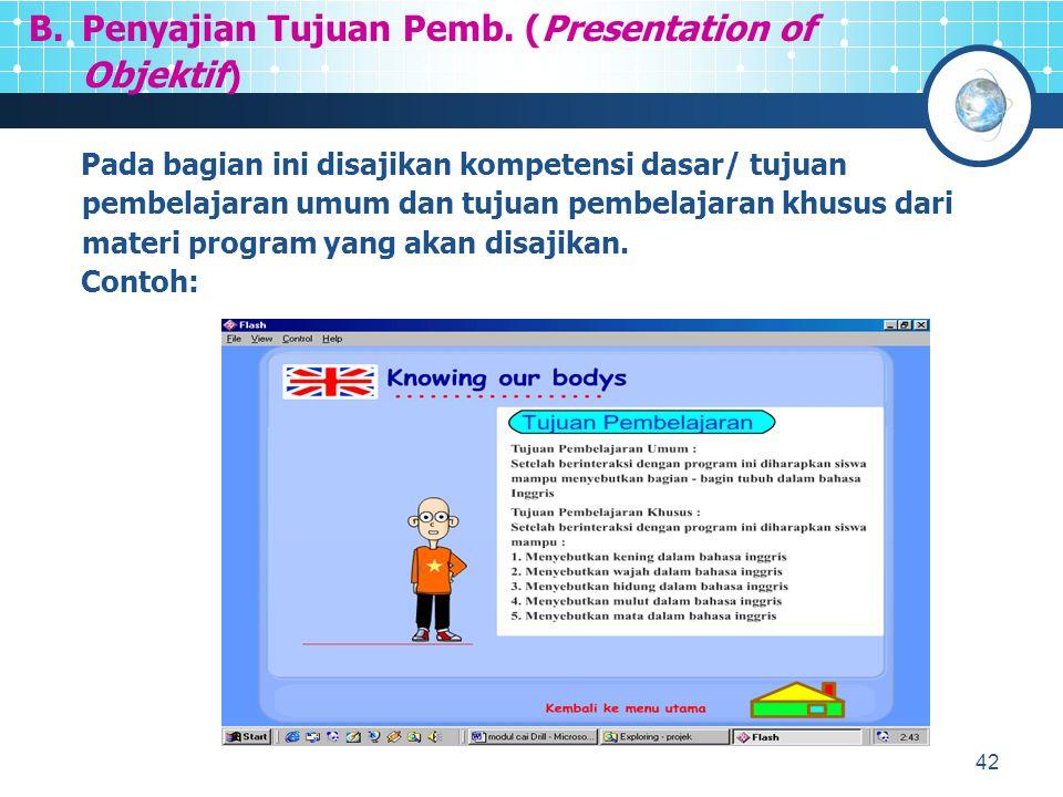 Penyajian Tujuan Pemb. (Presentation of Objektif)