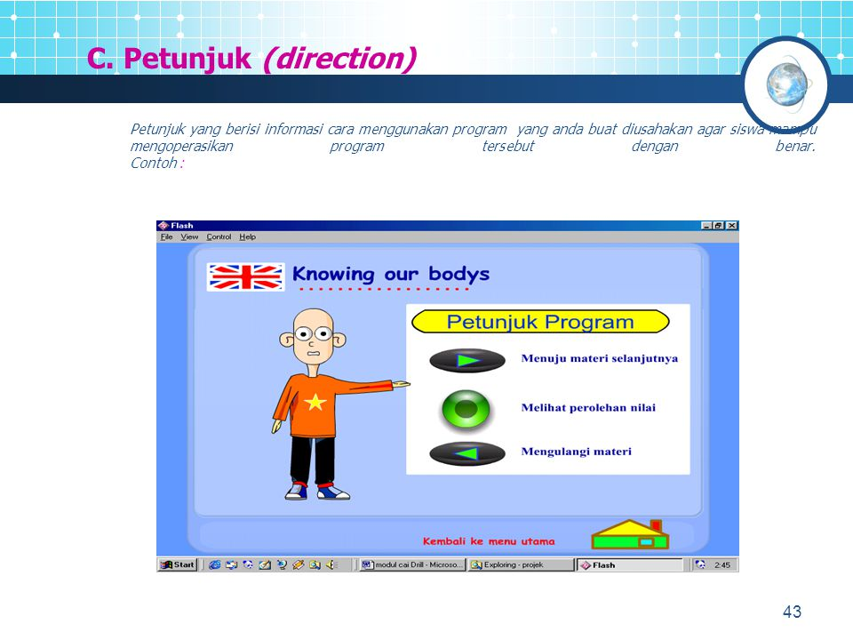C. Petunjuk (direction)
