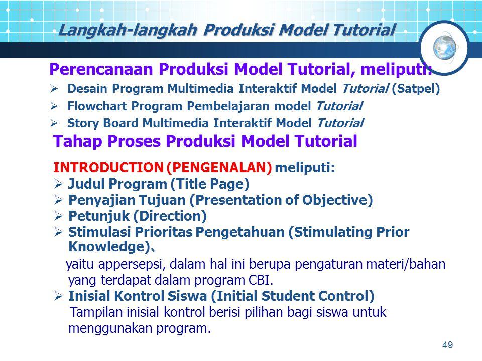Langkah-langkah Produksi Model Tutorial