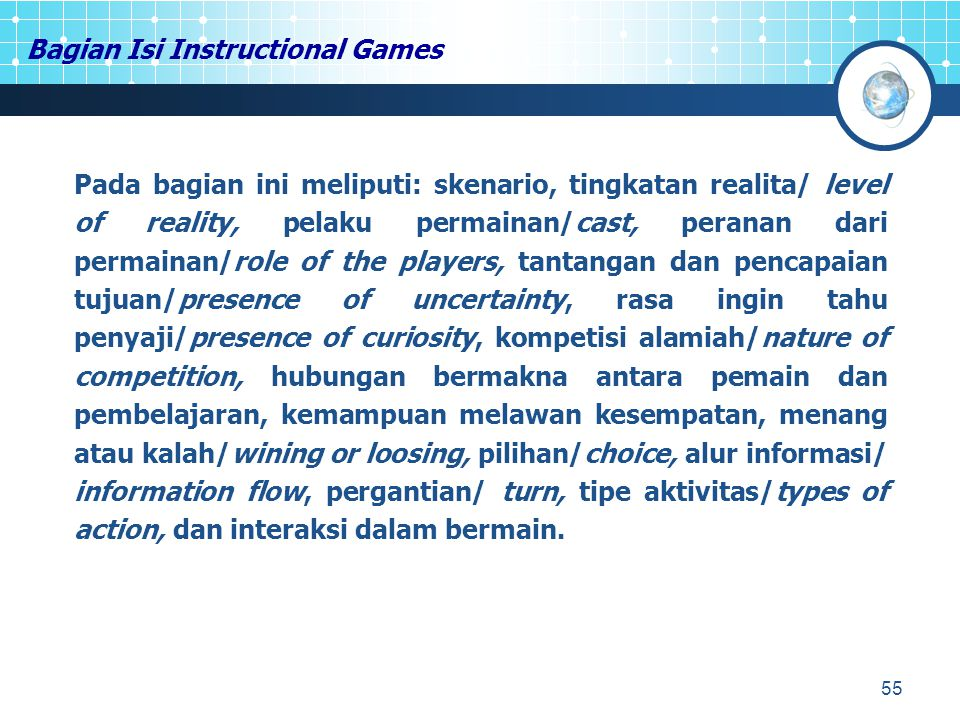 Bagian Isi Instructional Games