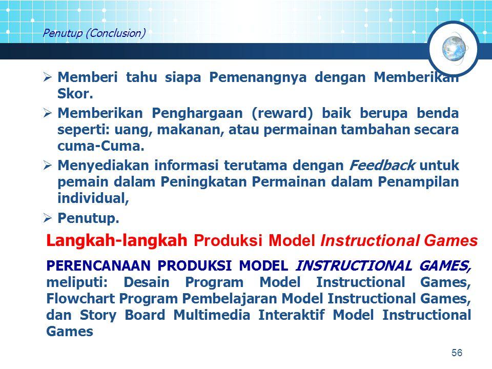 Langkah-langkah Produksi Model Instructional Games