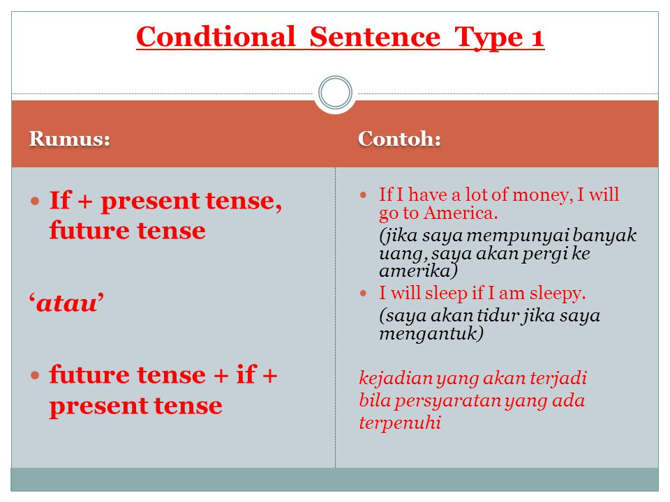 Condtional Sentence Type 1