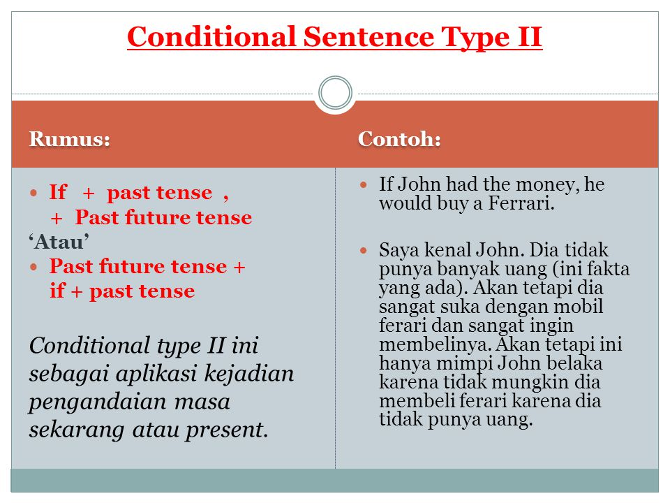 Conditional Sentence Type II