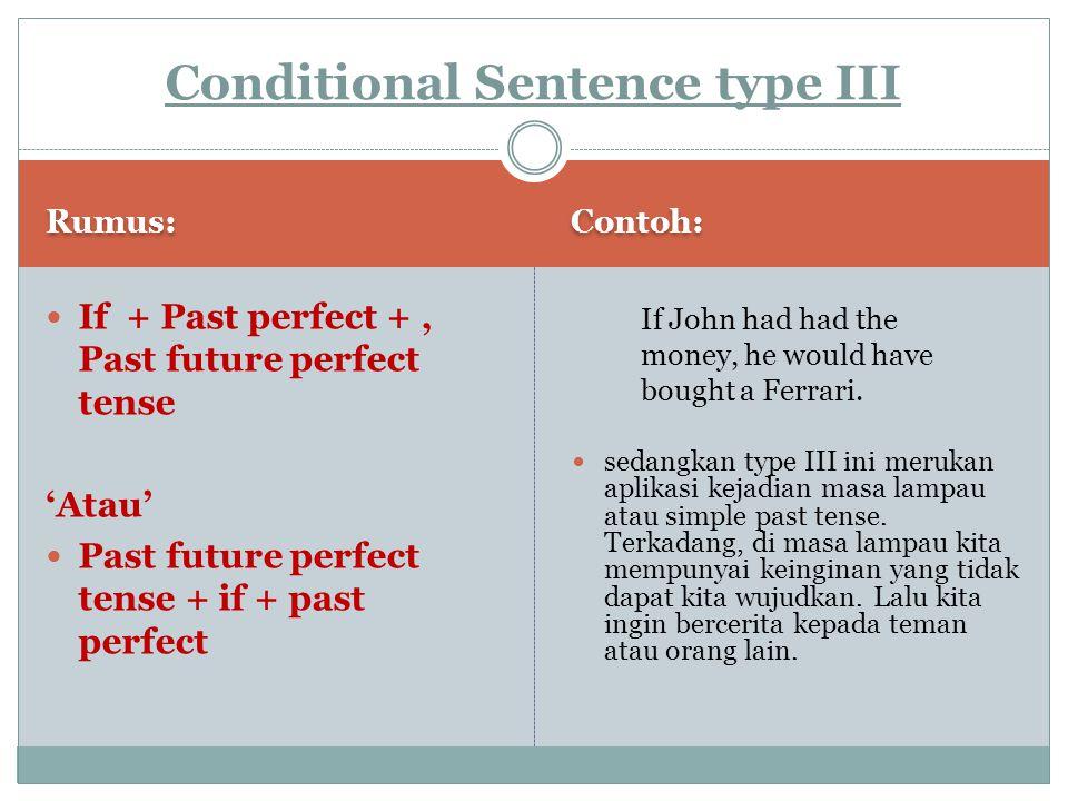 Conditional Sentence type III