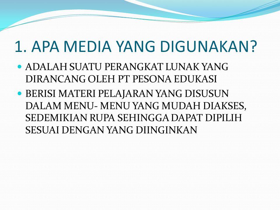 1. APA MEDIA YANG DIGUNAKAN