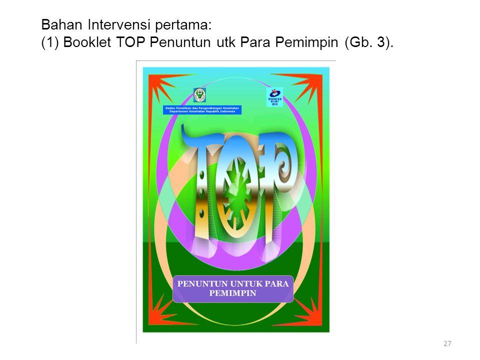 Bahan Intervensi pertama: (1) Booklet TOP Penuntun utk Para Pemimpin (Gb. 3).