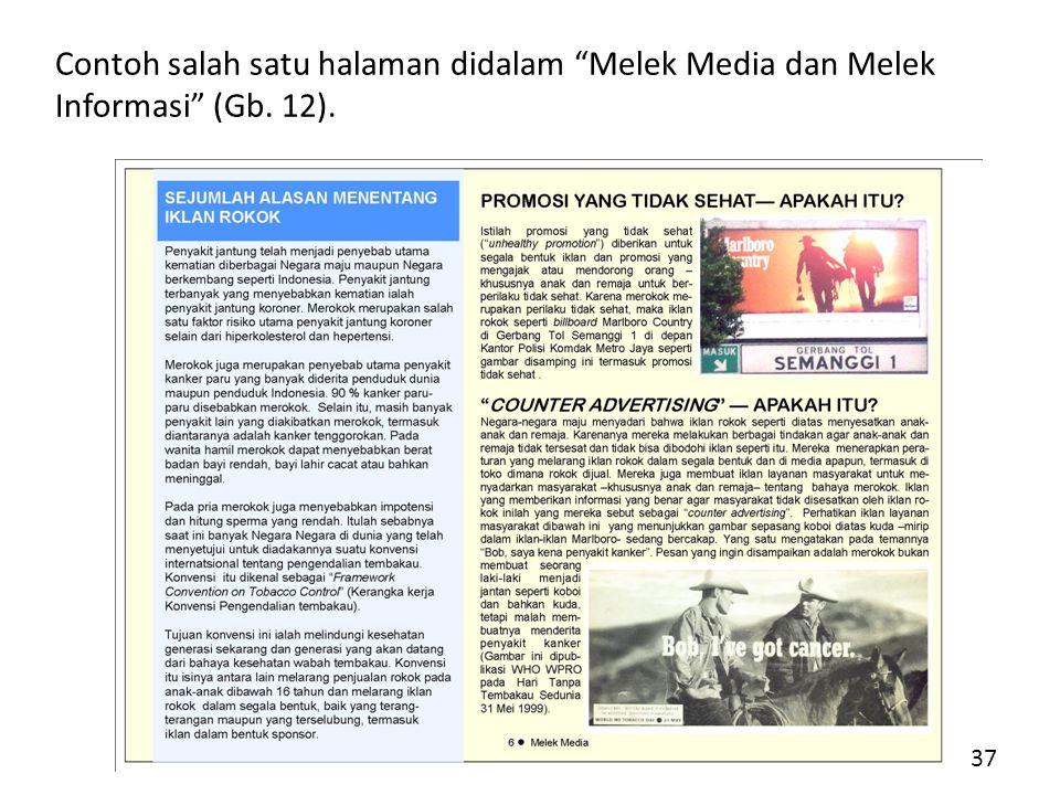 Contoh salah satu halaman didalam Melek Media dan Melek Informasi (Gb. 12).