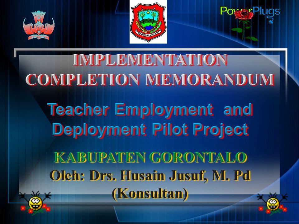 IMPLEMENTATION COMPLETION MEMORANDUM
