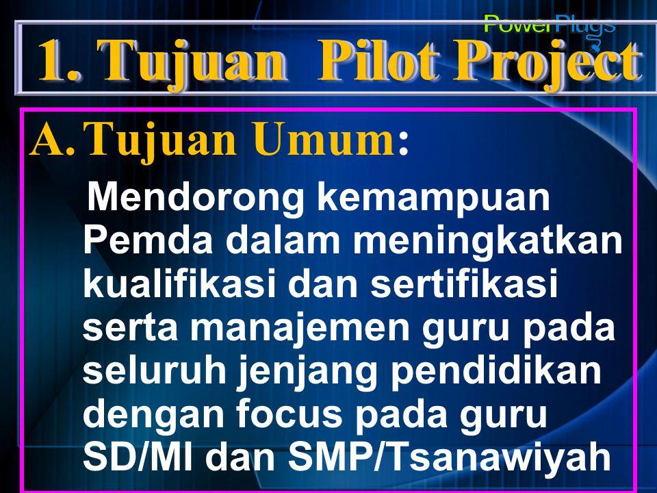 1. Tujuan Pilot Project Tujuan Umum: