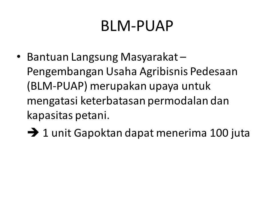 BLM-PUAP
