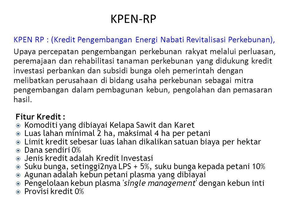 KPEN-RP KPEN RP : (Kredit Pengembangan Energi Nabati Revitalisasi Perkebunan),