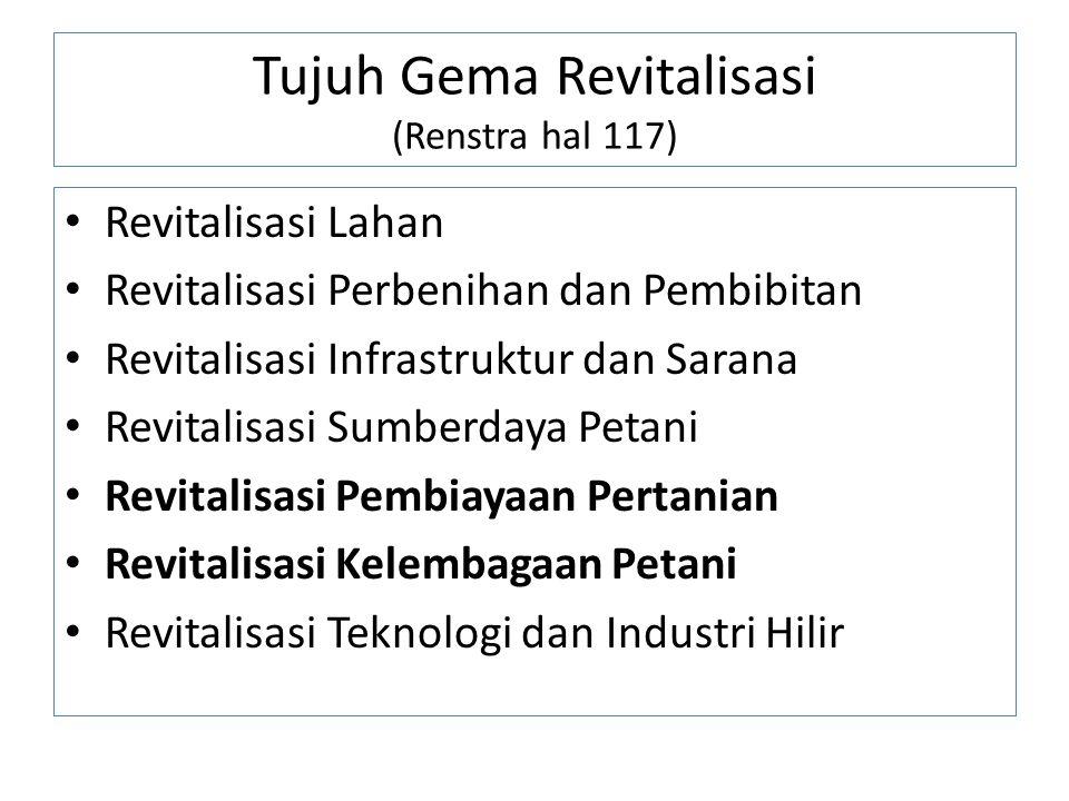 Tujuh Gema Revitalisasi (Renstra hal 117)