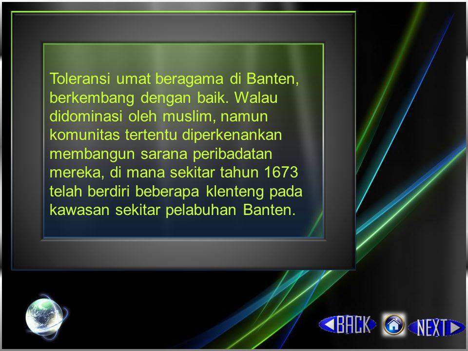 Toleransi umat beragama di Banten, berkembang dengan baik
