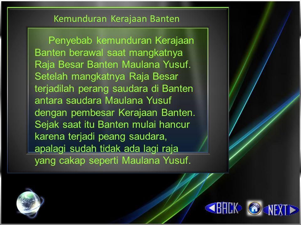 Kemunduran Kerajaan Banten