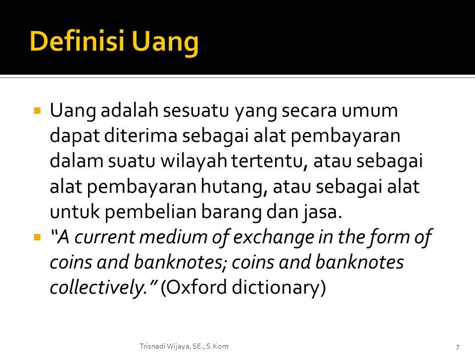 Definisi Uang